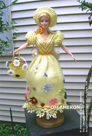 Вязаная одежда для куклы Барби